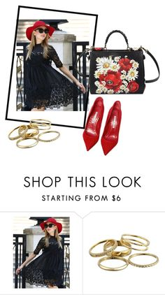 """Untitled #2"" by esmeraldakapetanovic ❤ liked on Polyvore featuring mode, Manolo Blahnik, Kendra Scott et Dolce&Gabbana"