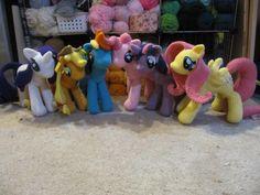 Crocheted my little pony stuffed animals