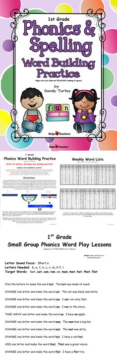 $FABULOUS! This E-book includes 27 Word Building lessons to help strengthen your students' phonics and spelling skills. Presentation of phonics concepts/spelling words are aligned with the CA Treasures program but would compliment any Language Arts Curriculum. 30 pages.
