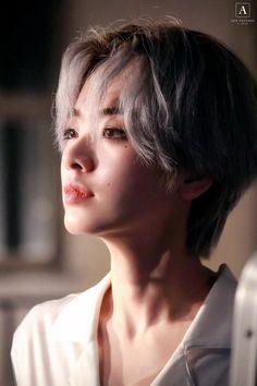 Short Hair Tomboy, Tomboy Girl, Asian Short Hair, Lee Joo Young, Girls Short Haircuts, Aesthetic People, Model Face, Dream Hair, Korean Actresses