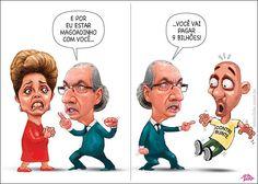 Cunha briga com Dilma... Briga de Corruptos...É uma bomba que custa 9 bilhões ao povão contribuinte... Há que pôr todos os corruptos fora da governação, qualquer que seja ela...
