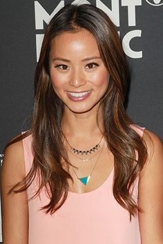 "Jamie Chung is sporting dark-blonde highlights. @George Papanikolas says: ""Remember that your hair goes through the most damage when you go lighter, so you want to do it gradually. And don't forget to follow-up with a protein treatment, like Joico K-PAK RevitaLuxe to keep your tresses in tip-top shape."""
