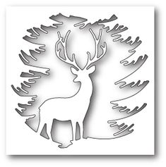 Memory Box - Die - Evergreen Reindeer - with Children - Memory Bo . - Memory Box – The – Evergreen Reindeer – – Memory Box – Die – - Christmas Stencils, Christmas Crafts, Christmas Decorations, Christmas Ornaments, Handmade Christmas, Christmas Lights, Christmas Tables, Christmas Paper, Memories Box