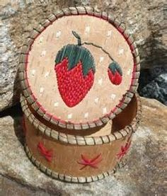 Strawberry Porcupine Quill Basket | Porcupine Quillz | Pinterest