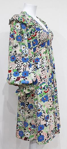 Rare Ossie Clark 'Pretty Woman' marocain dress with Celia Birtwell print, 1970s image 3