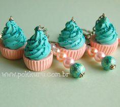 chaveiro / enfeite de bolsa com cupcake