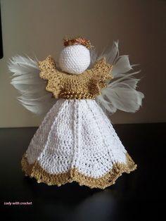 Lady with crochet - anioł