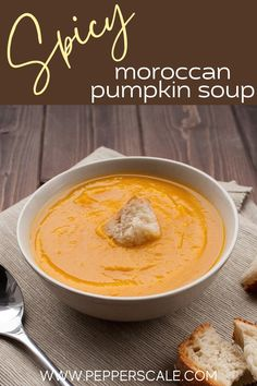 Spicy Vegetarian Recipes, Easy Soup Recipes, Vegetable Recipes, Mexican Food Recipes, Moroccan Soup, Spicy Steak, Quick And Easy Soup, Tasty Dishes, Side Dishes