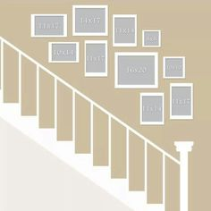 Idea for a Frame wall over the stairs