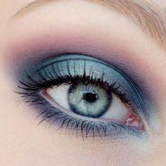 Smokey Eye azzurro viola e lilla