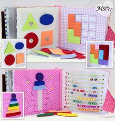 Children's Quiet Book Busy Book Eco friendly van MiniMoms op Etsy