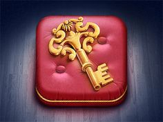 Golden Key iOS Icon  by Denis Shoomov