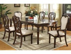 7pc Linwood Dining Room Table Set http://www.maxfurniture.com/dining/dining-sets/7pc-linwood-dining-room-set-by-coaster.html #dining #furniture