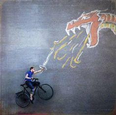 Surreal Mid Air Photography > Biker Vs Dragon