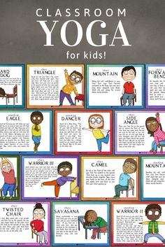 Yoga for Kids (and adults too)! Mindfulness Activities for Self-Regulation. Perfect for Calm Corner Yoga for Kids (and adults too)! Mindfulness Activities for Self-Regulation. Perfect for Calm Corner,WholeHearted School Counseling TPT pins Teachers! Mindfulness For Kids, Mindfulness Activities, Yoga For Kids, Exercise For Kids, Kids Yoga Poses, Social Emotional Learning, Social Skills, Social Work, Health Education