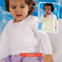 FREE baby cardigan pattern - download it today at LoveKnitting!