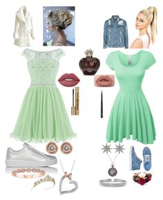 """""""#bestfriends matching green bestfriend out fits"""" by drey-harper on Polyvore featuring LE3NO, Avon, Prada Sport, Bee Goddess, Bling Jewelry, Ron Hami, Disney, Lime Crime, Yves Saint Laurent and MAC Cosmetics"""