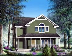 House Plan 91883 | Country    Plan with 1647 Sq. Ft., 3 Bedrooms, 3 Bathrooms, 2 Car Garage