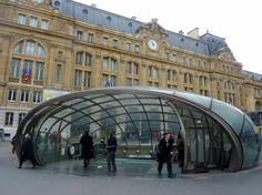 The metro entrance in the Cour de Rome