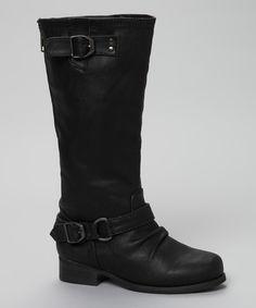 Black Buckle Jetty Boot