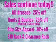 Happy Sunday Sales!!! #madisonsbluebrick #downtownhotsprings #shoplocal #sale
