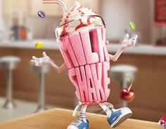 """Check out this @Behance project: """"CCAA KIDS - Milk Shake""""…"""