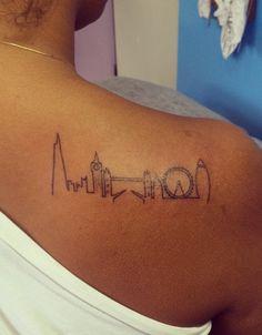 London Skyline London Tattoo, London Skyline, Tattoo Inspiration, Fish Tattoos, Tattoo Quotes, Tattoo Ideas, Inspirational, Ink, India Ink