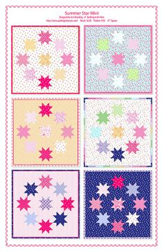 Summer Star Mini by Quilting in the Rain