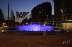 Barcelona Fountain. EDL Water Feature  #edl #edlcreativewater #edldesign #edlwater #water #edlwaterfeatures #waterfeatures #waterfeature #fountain #ornamentalfountain #light #lightingfountain #architecture #architecturefountain #design #foutaindesign