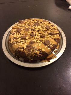 Chocolate peanut butter cake made in the awesome Rockcrok!