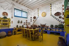 Casa Azul - Frida Kahlo http://www.museofridakahlo.org.mx/esp/1/coleccion-permanente/colecciones/espacios-de-la-casa-azul