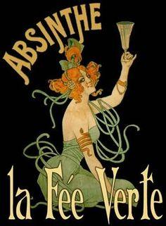Absinthe la Fée Verte by Leonnetto Cappiello (1910)