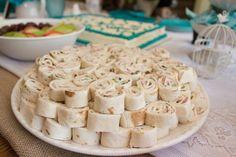 Tortilla pinwheels bridal shower food