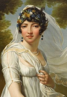 -Wicar, Jean-Baptiste Carolina Bonaparte, married Murat (as-Queen of Naples) Jane Austen, Regency Dress, Regency Era, Posh People, Art Through The Ages, Empire Style, Kaiser, Historical Costume, Heart Art
