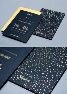 Showcase of Creative Print Designs with Hot Foil Stamping Freixenet Invites by Them Design Layout Design, Web Design, Book Design, Print Design, Cover Design, Invitation Design, Invitation Cards, Invitations, Invite