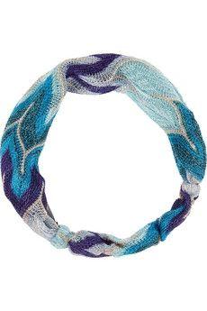 Missoni|Metallic crochet-knit headband|NET-A-PORTER.COM - StyleSays