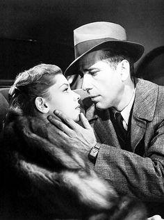 Lauren Bacall and Humphrey Bogart in Howard Hawks' The Big Sleep (1946)