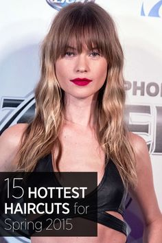 The 15 Hottest Spring Haircuts 2015 - Best Celebrity Hairstyles for Spring 2015 Hairstyles, Celebrity Hairstyles, Pretty Hairstyles, Casual Hairstyles, Fringe Hairstyles, Medium Hairstyles, Curly Hairstyles, Hairstyle Ideas, Hair Ideas