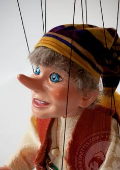 Pinocchio Big Marionette Puppet from CzechMarionettes traditional handmade collection (made in Czech Republic)