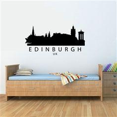 Edinburgh UK City Skyline Vinyl Wall Art Decal Sticker $12.99
