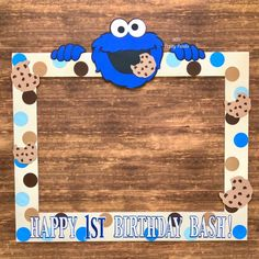 Super Ideas For Baby Shower Photo Booth Frame Boys Birthdays 1st Birthday Party Themes, 1st Birthday Decorations, Monster Birthday Parties, 1st Boy Birthday, Birthday Ideas, Monster Baby Showers, Monster Decorations, Monster 1st Birthdays, Cookie Monster Party