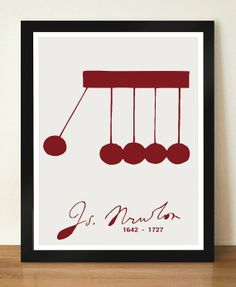Isaac Newton Inspirational and Motivational Idea by DesignSailors, $8.00