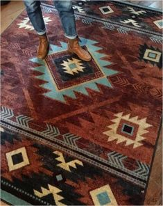 DIY Home Decor explanation to get one charming presentation, decorating plan number 7286225952 Room Rugs, Rugs In Living Room, Living Room Decor, Area Rugs, Dining Rooms, Southwestern Decorating, Southwest Decor, Southwest Style, Western Style