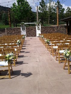Ceremony decor, monogrammed doors used for arch support for altar area