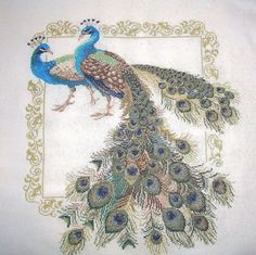 From Russia with love  Peacocks The finished by BRUSESA on Etsy, $170.00