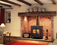 We Supply & Fit Quality Log Burning Stoves in Wetherby Home Fireplace, Cottage Fireplace, Fireplace Design, Wood Stove Surround, Cottage Interiors, House, Wood Burning Stoves Living Room, Brick Fireplace, Freestanding Fireplace