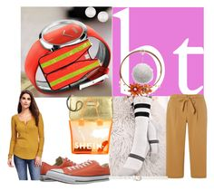 """""""tiny safety magazine"""" by lerp ❤ liked on Polyvore featuring Stance, NOVICA, Old Navy, Anne Klein, Carole, Dorothy Perkins, Converse and Majorica"""