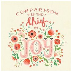 {Comparison is the thief of joy.} Don't compare your chapter 2 to someone else's chapter 22. Earlier this week, I watched the powerful video below by Carrie Green, founder of the Female Entrepreneur Association and it hit the bullseye for me. She drove the point home that when we advance in life and have accomplishments …