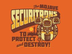 Securitrons Fallout New Vegas by Nick Beaulieu Artwork avaiable as a shirt or print at my Design by Humans page here http://www.designbyhumans.com/shop/designbydisorder/