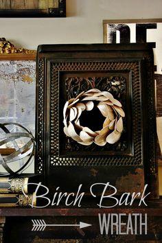 birch bark wreath project ideas